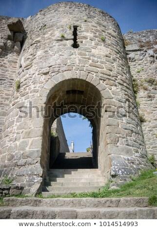 Város fal átjáró Franciaország egy kő Stock fotó © smartin69