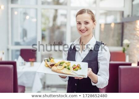 официантка продовольствие блюдо повар Сток-фото © wavebreak_media