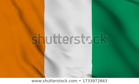 Cote d Ivoire waving flag Stock photo © Amplion