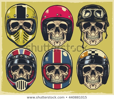 Skulls in helmet Stock photo © frescomovie
