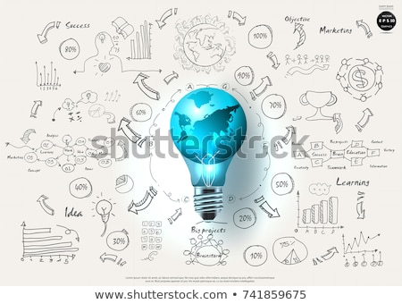 pesquisa · análise · branco · rabisco · ícones · em · torno · de - foto stock © tashatuvango