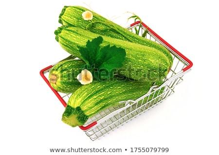 Frischen grünen Zucchini Holz Schneidebrett Gemüse Stock foto © Digifoodstock