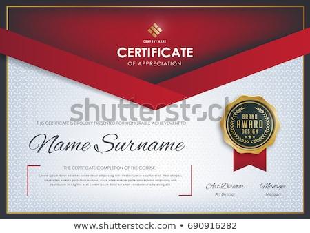 creativo · certificato · premio · modello · rosso - foto d'archivio © sarts