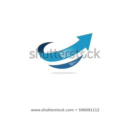 Arrows Logo Template design Stock photo © Ggs