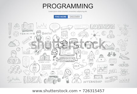 Programming concept with Business Doodle design style: online re Stock photo © DavidArts