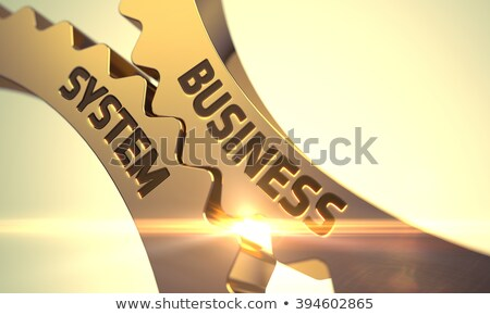 Stockfoto: Business · gouden · metalen · cog · versnellingen · industriële