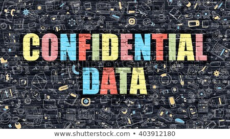 Stock photo: Confidential Data on Dark Brick Wall.