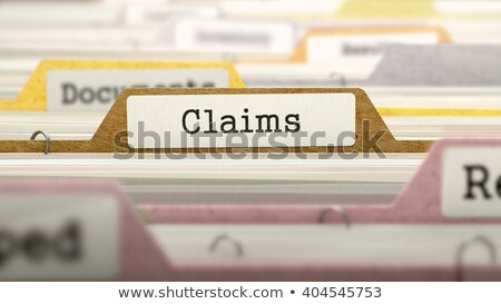 Claims - Folder Name in Directory. Stock photo © tashatuvango