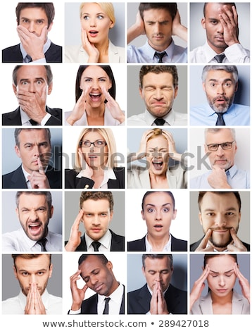 Woman with shocked facial expression making hand gestures Stock photo © wavebreak_media