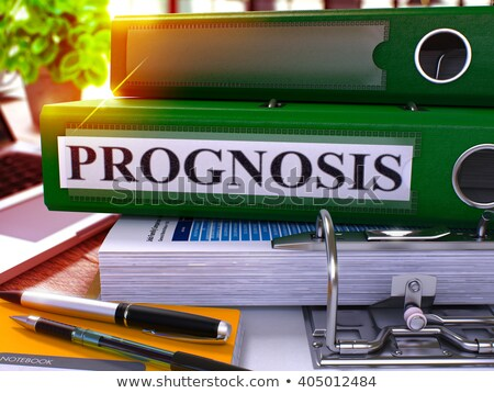 Green Office Folder with Inscription Prognosis. Stock photo © tashatuvango