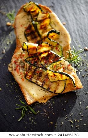 Bruschetta kaas courgette hout achtergrond brood Stockfoto © M-studio