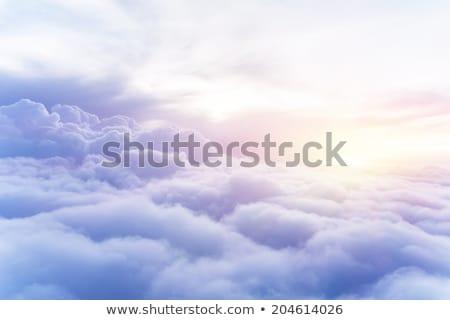 Kabarık bulutlar gökyüzü doğal doku manzara Stok fotoğraf © taviphoto