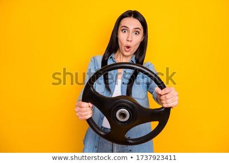feminino · motorista · volante · mulher · condução - foto stock © stevanovicigor