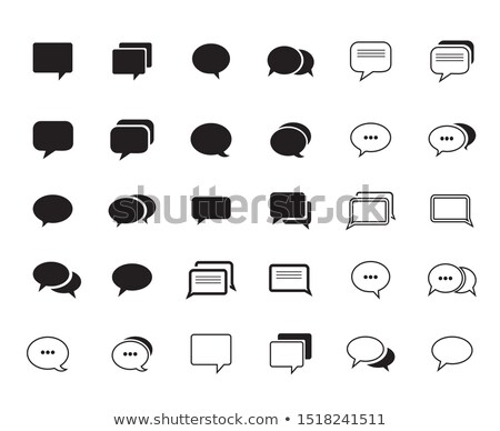 comment icon on white background Stock photo © nickylarson974