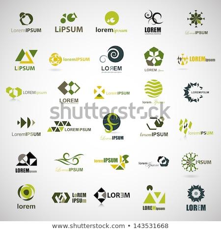 üçgen soyut yalıtılmış logo logo tasarımı Stok fotoğraf © studioworkstock