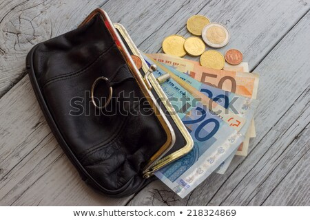 Female leather open clutch isolated icon Stock photo © studioworkstock