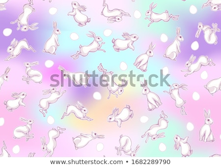 Happy Easter ultra violet seamless pattern. Vector illustration. Stock photo © gladiolus
