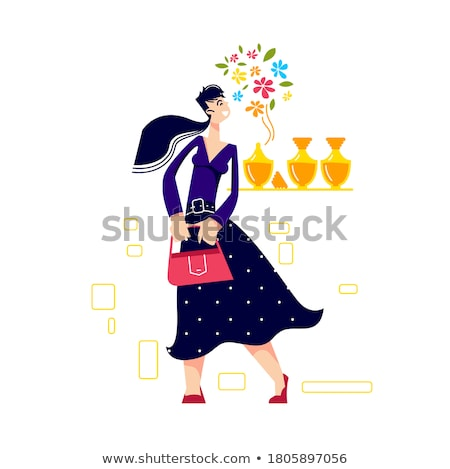 Mulher perfume beleza moda vetor Foto stock © jossdiim
