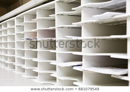 Rows of office pidgeon holes Stock photo © IS2