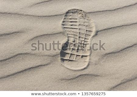 Amprenta nisip călători aventură în aer liber Imagine de stoc © IS2