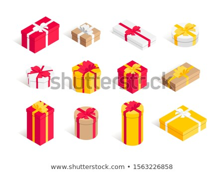 bow isometric icon isolated on color background stock photo © sidmay