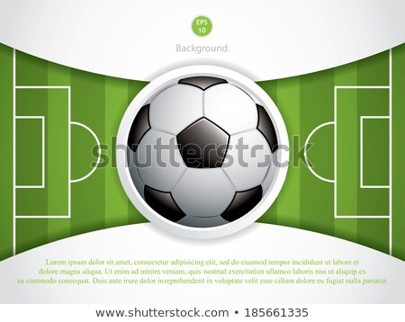 Soccer ball in background of brazilian flag Stock photo © orensila
