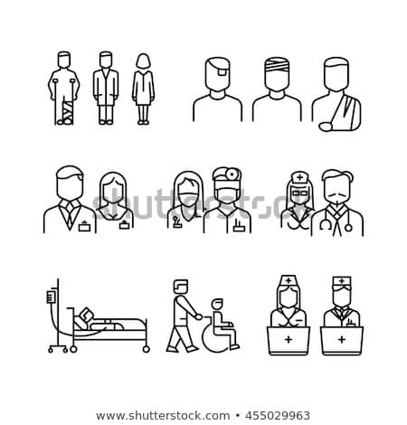Enfermera icono lineal estilo vector atención médica Foto stock © Olena