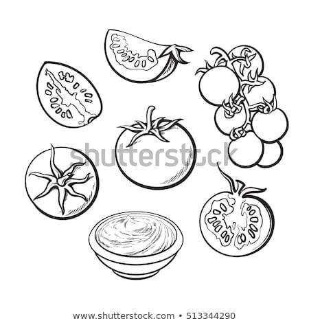 黒白 トマト 大理石 テクスチャ 食品 自然 ストックフォト © Walmor_