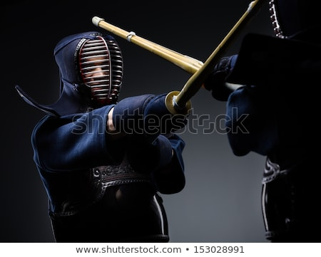 lutador · retrato · homem · esportes · preto · silhueta - foto stock © kokimk