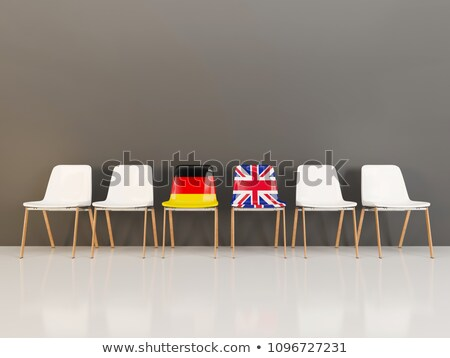 Chairs with flag of Germany and UK in a row Stock photo © MikhailMishchenko