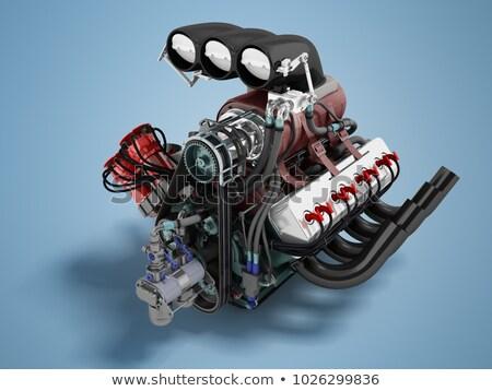 двигатель · мощный · черный · мотоцикл · воды · магазин - Сток-фото © mar1art1