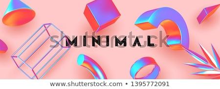 Cilindro geométrico descobrir padrão cor cartaz Foto stock © robuart