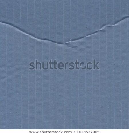 Blue Cardboard Wrinkles Texture Stock photo © adamson