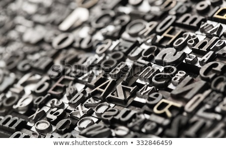 Printing press letters Stock photo © boggy