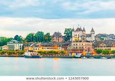 palais · lac · ciel · bâtiment · été · hôtel - photo stock © filipw