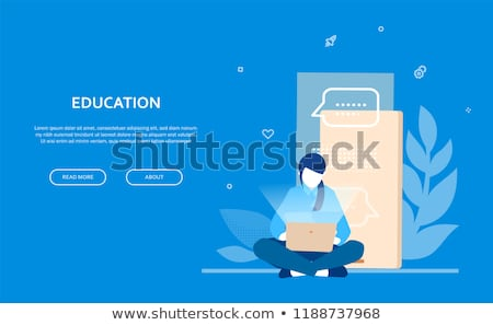 education   flat design style colorful web banner stock photo © decorwithme