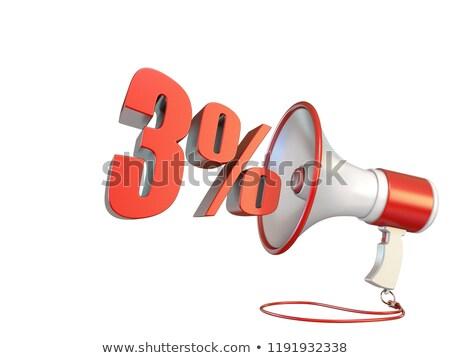 Stockfoto: Procent · teken · megafoon · 3D · illustratie