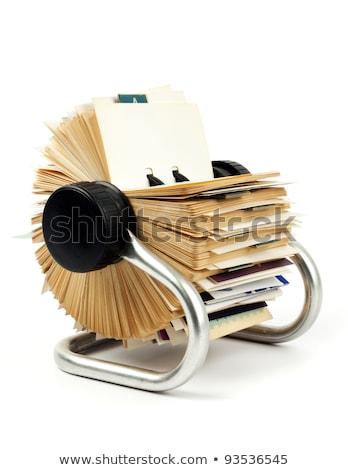 カード ファイル 孤立した 白 ストックフォト © sidewaysdesign