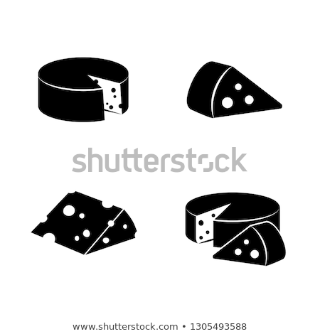 cheese icons  flat silhouette Stock photo © Olena