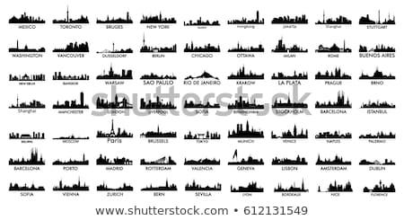 Bangkok · linha · do · horizonte · detalhado · vetor · edifício · construção - foto stock © ray_of_light
