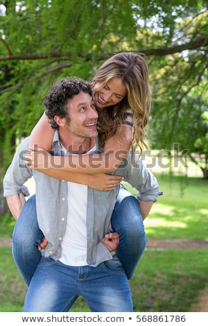 Marido esposa atrás fuerte seguro Foto stock © Kzenon