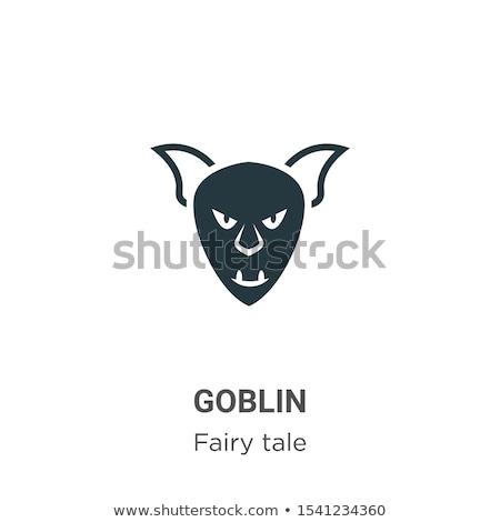Goblin Sign Illustration Stock photo © cthoman