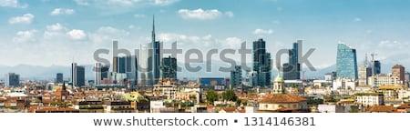 Moderno arranha-céus milan ver Itália escritório Foto stock © boggy