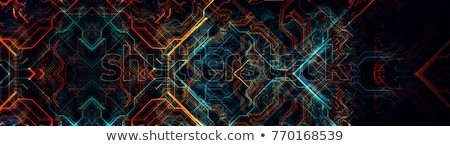 Computer circuit board Rood server achtergrond Stockfoto © kayros
