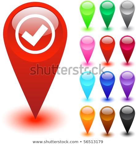 Bright check box icon with white and black checkmark. vector ill Stock photo © kyryloff