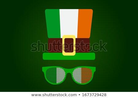 Cartoon ирландский человека Идея счастливым клевера Сток-фото © cthoman