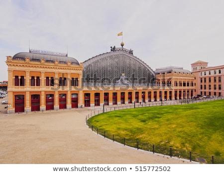 железнодорожная станция Мадрид Испания железнодорожная станция здании часы Сток-фото © artfotodima