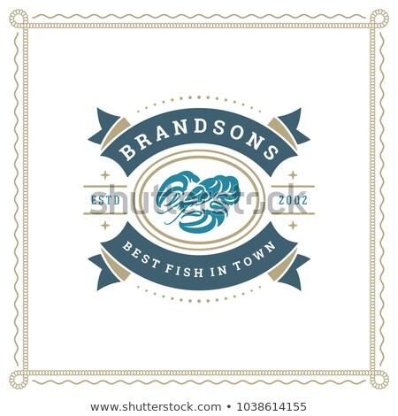 シルエット シーフード レストラン バナー 実例 魚 ストックフォト © bluering