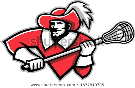 Musketeer Ice Hockey Mascot Stock photo © patrimonio