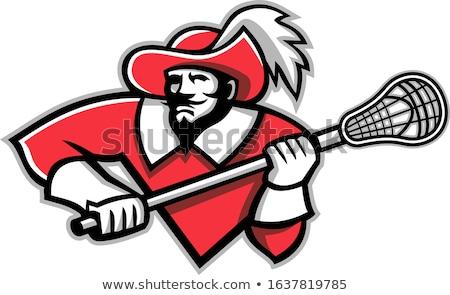 musketeer ice hockey mascot stock photo © patrimonio